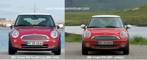 differences between mini cooper r50 r56