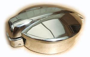 Mini Monza Chrome Petrol Cap with Collar