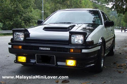 Toyota Trueno AE86 front view