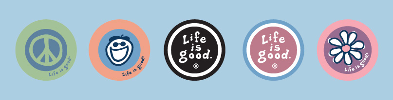 Life is good oval magnet