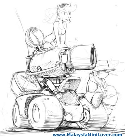 cartoon car sketches