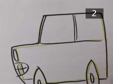 draw cartoon cars step 6