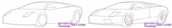 draw cool cars step 2