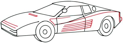 drawing car 4