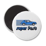 super fast oval car magnets