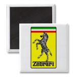 Ferrari Zebra car magnet
