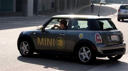 Mini E rear view