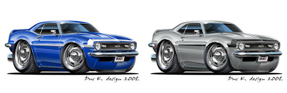 muscle car cartoons
