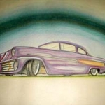 Custom car drawing