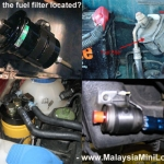 Where is the fuel filter located?