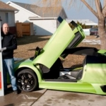 A man wins a Lamborghini Murcielago and wrecked it after hours