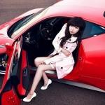 When Pretty Girls Meet with Ferrari