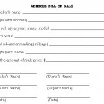 <b>Car bill of sale printable</b>