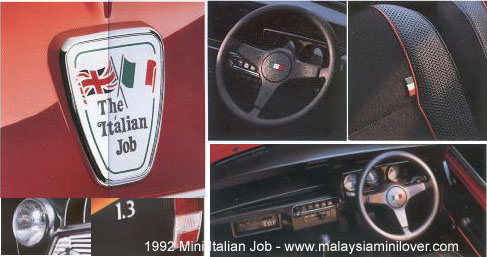 Production of Mini Italian Job Date Launched: October 1992