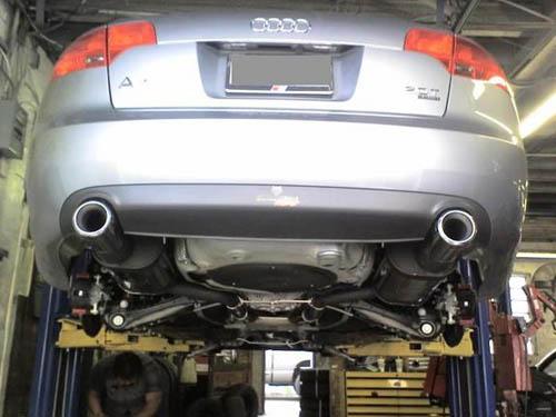Audi A4 exhaust