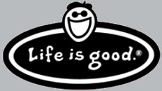 Life is good car magnet
