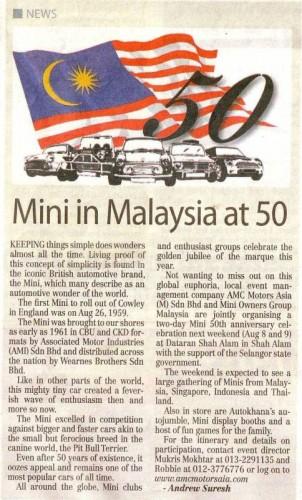 Mini 50th Anniversary in Malaysia