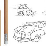 <b>Cartoon drawings of cars</b>