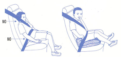 booster seat diagram