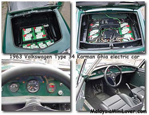 Volkswagen Type 34 Karman Ghia electric car