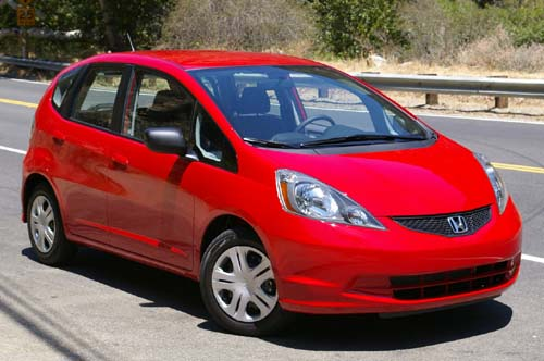 red honda jazz