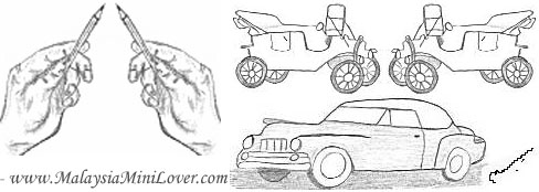 pencil drawings car