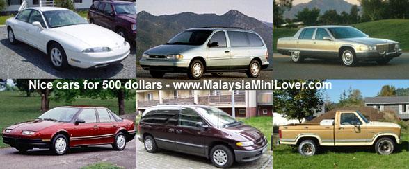 500 dollars cars