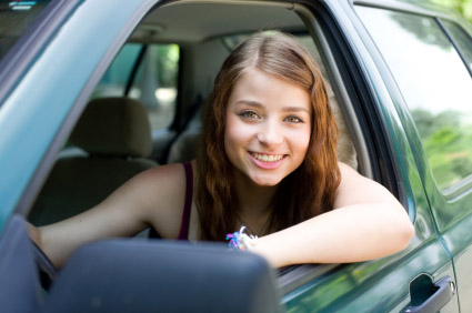 Young girl driver