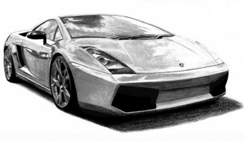 Cool car drawing