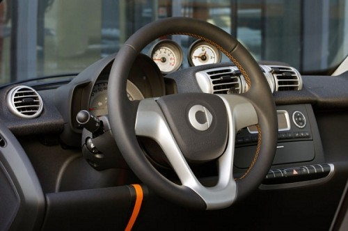 Smart Fortwo leather steering cover