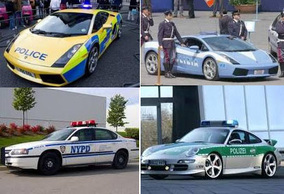 Fast police cars