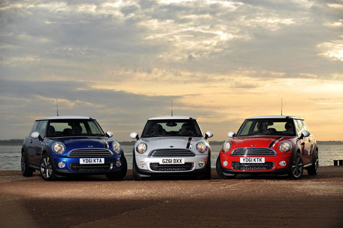 three mini cooper