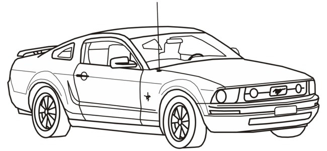 Ford Mustang muscle cars coloring pages