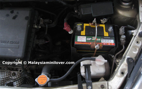 car battery housing