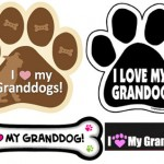 "<b>""I Love My Granddogs"" Car Magnet</b>"