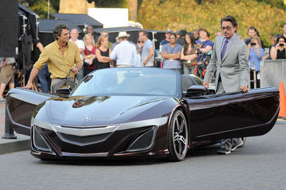 Acura NSX spotted in The Avengers shooting