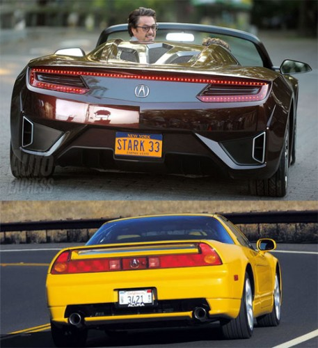 Compare new and old Acura NSX