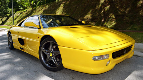 Ferrari F355 yellow color