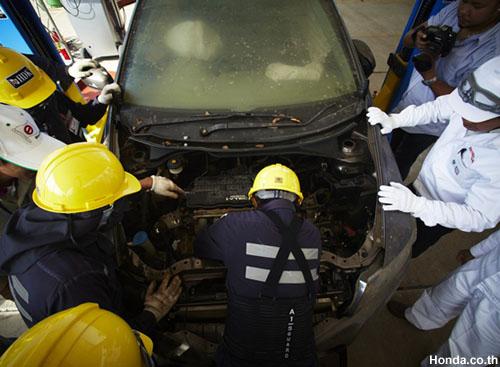 Honda scrapped car