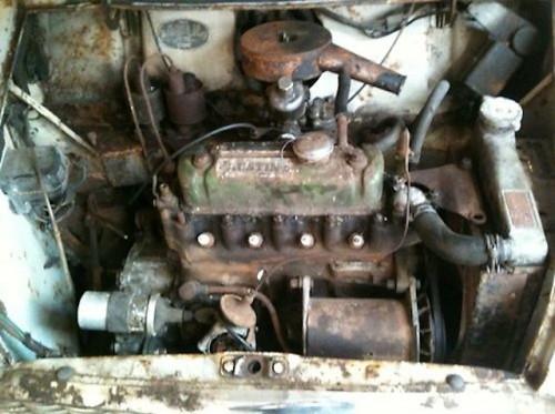 1959 Austin Mini Se7en De Luxe Saloon Engine