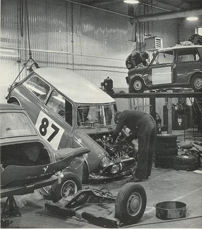 Mini in workshop