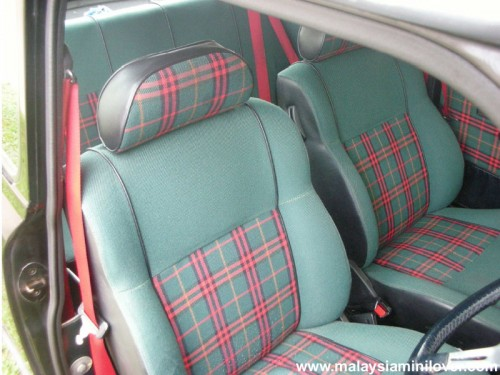 1995 Mini Tartan seat