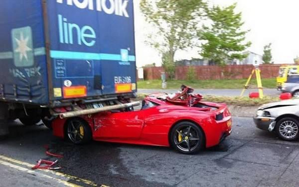 Ferrari accident