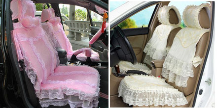 Lace car seat cover