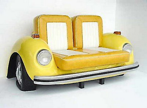 Furniture from used car parts