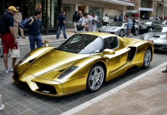 golden Ferrari Enzo