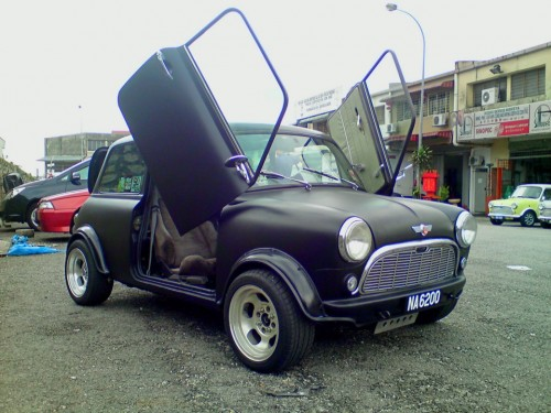 Matte black Mini car