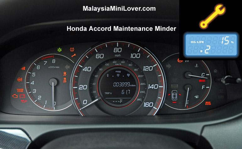 Honda Accord Maintenance Minder