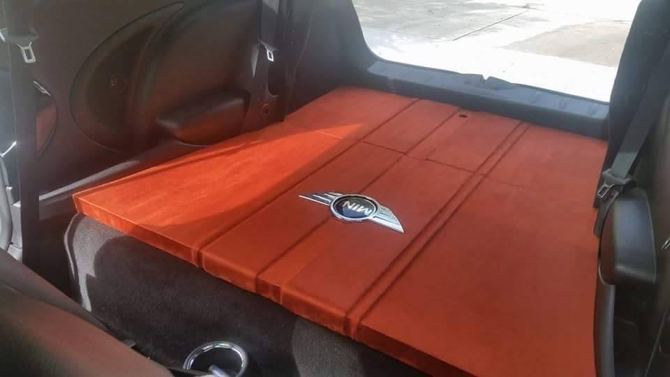 Mini Cooper back seat