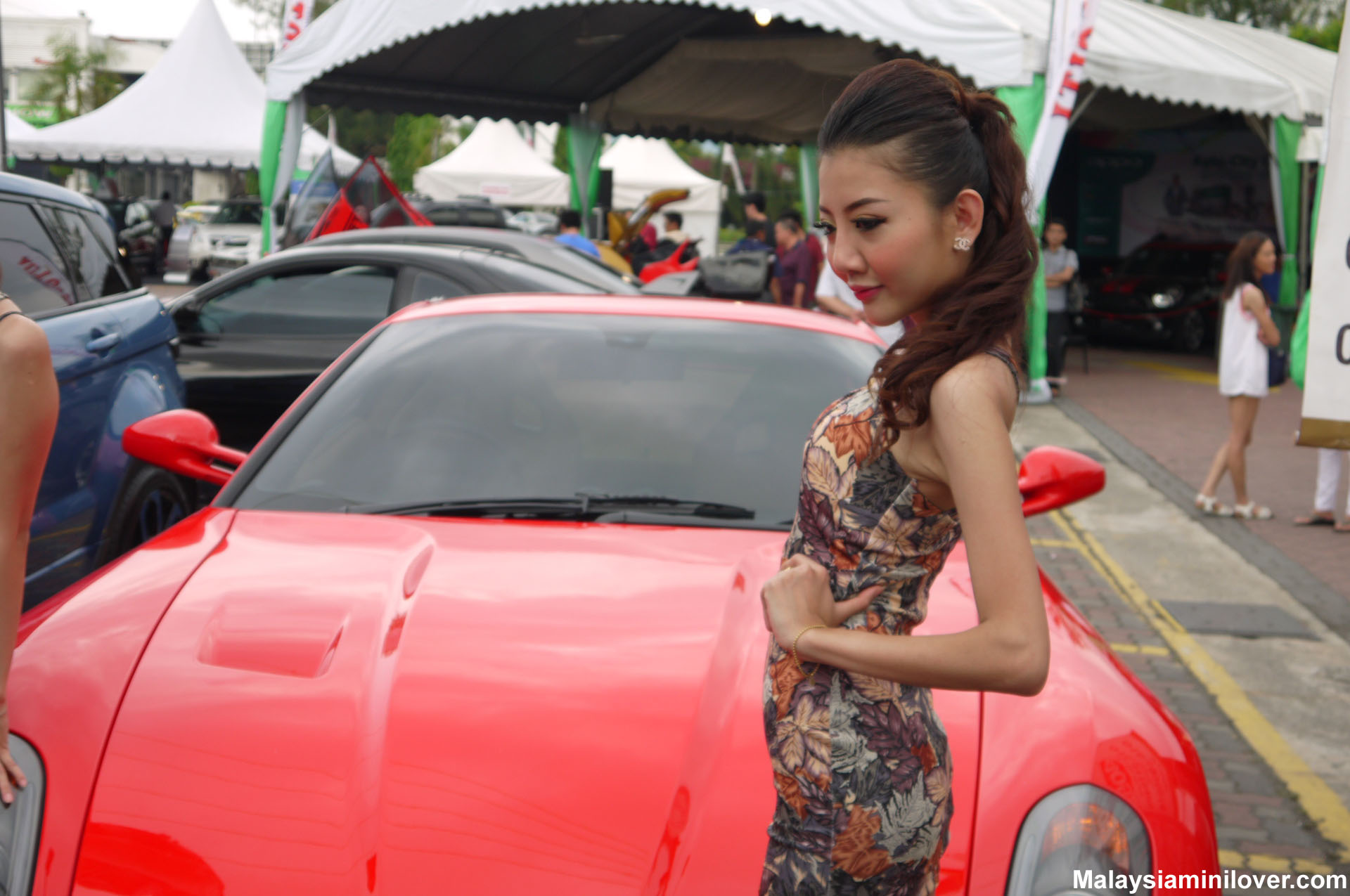 Chinese car show girls